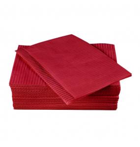 Ламинированая салфетка для столика. Бордовая 3-х слойная