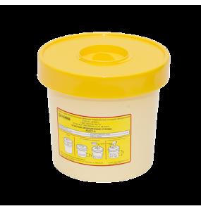 Емкость-контейнер 1 л для сбора игл